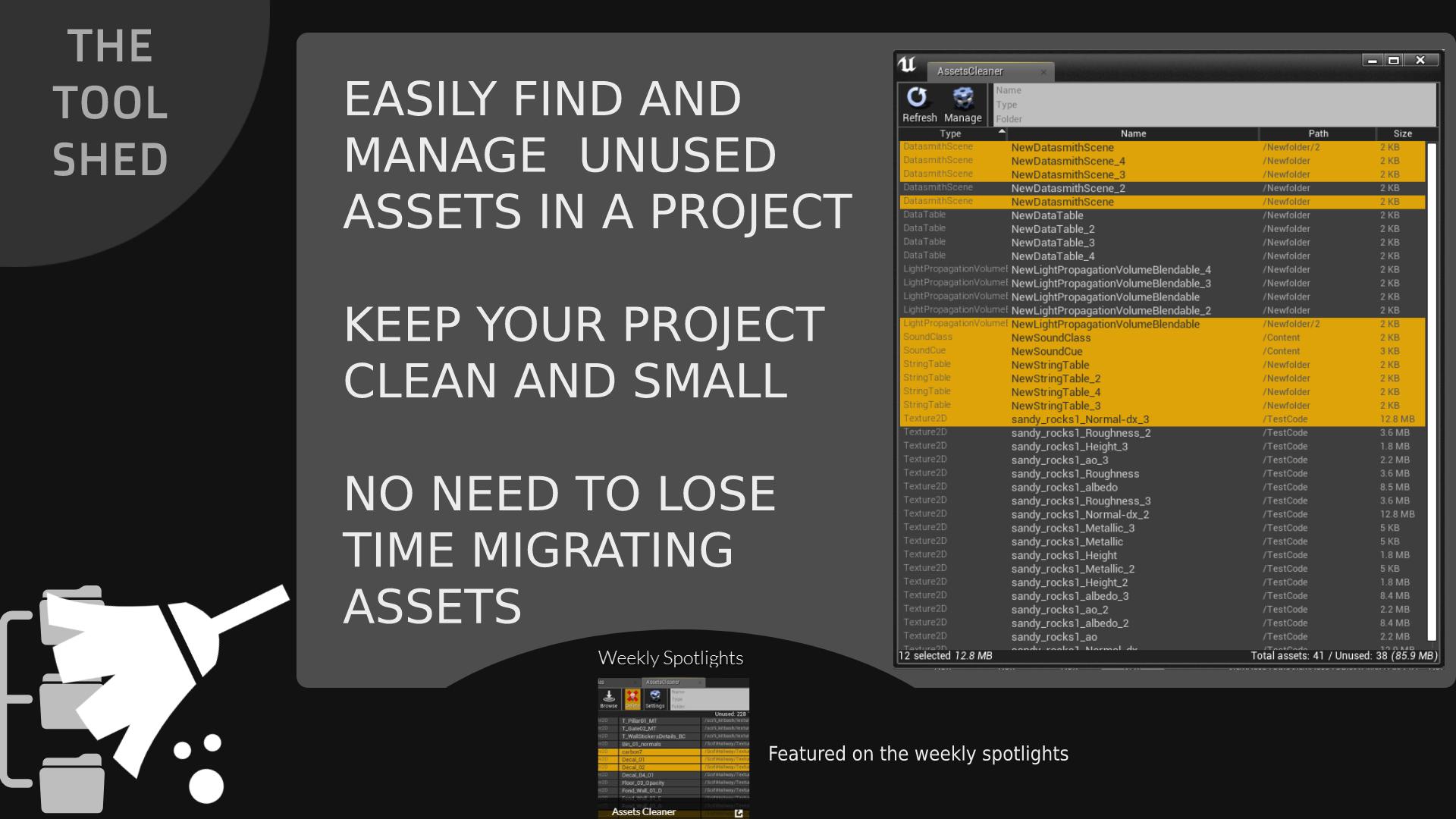 资产清理工具 Assets Cleaner - Project Cleaning Tool